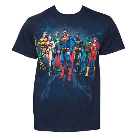 T Shirt Justice League Dc Justice League 28 justice league s navy blue squad t shirt superheroden