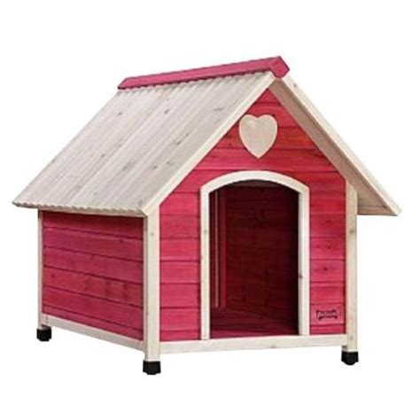 homedepot dog house pet squeak 3 8 ft l x 2 6 ft w x 1 6 ft h arf frame pink large dog house 0006l pk