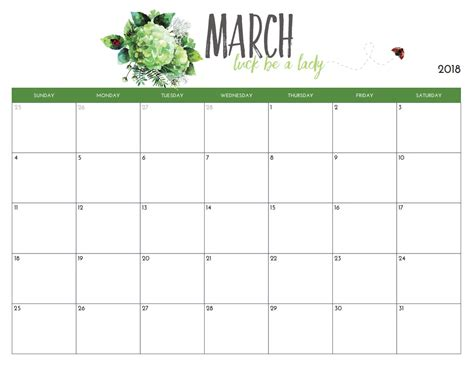 printable monthly calendar march free printable march 2018 calendar latest calendar