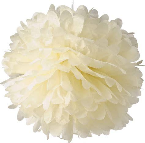 Pom Poms From Tissue Paper - tissue paper pom poms 16 quot beige pack of 4