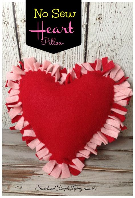Easy Sew Pillow by Diy Felt Craft Idea No Sewing Required Sweet And
