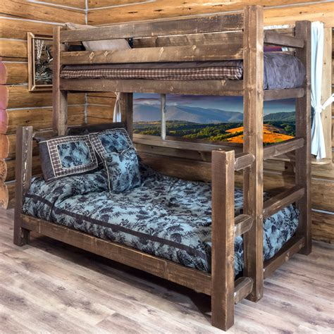 montana woodworks homestead twin  full bunk bed