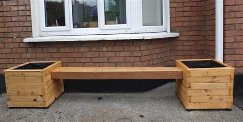 bench with flower box flower box bench planter for sale in galway city centre galway from good wood