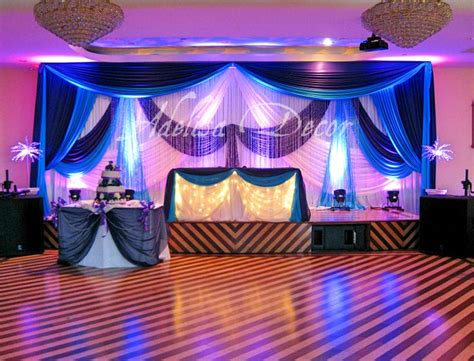 purple and turquoise wedding reception wedding reception backdrop lighting sweetheart table