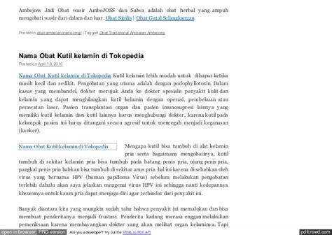 Salep Podophyllotoxin obat keputihan gatal