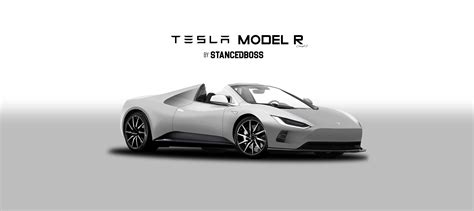 tesla model r fixed version tesla model r roadster 2017 render