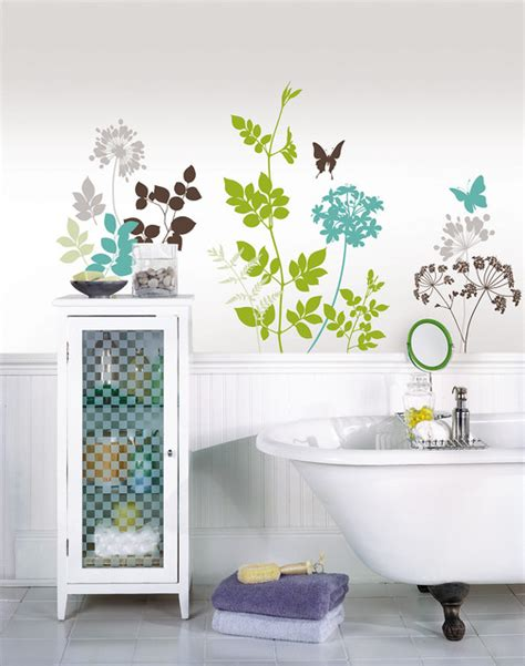 wall decals in bathroom habitat wall decals by wallpops contemporary bathroom