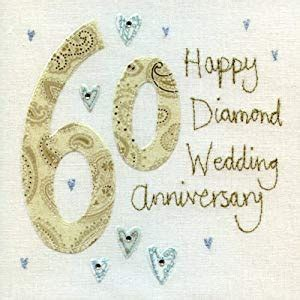 Wedding Anniversary Jewels by Anniversary Card Bes3839 60th Wedding