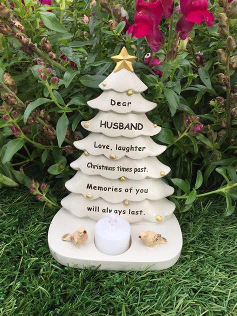 grave side christmas tree husband tree graveside memorial ornament robin tealight candle 5055361741715 ebay