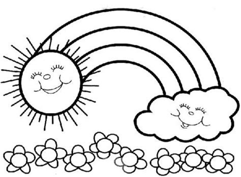 preschool coloring pages for march rainbow coloring pages for preschool pattern rainbow