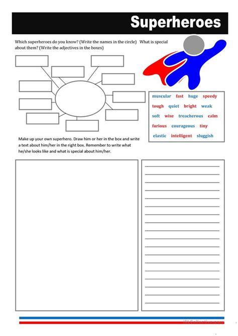 heroes printable worksheets 26 free esl superheroes worksheets