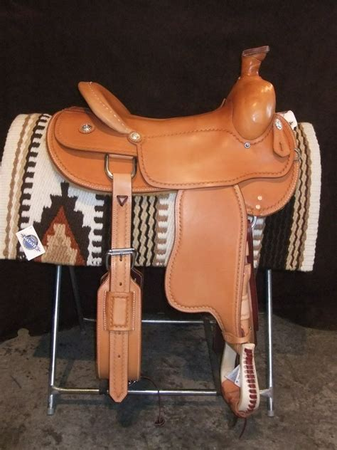Handmade Saddles - handmade custom western ranch saddle by the saddle shack