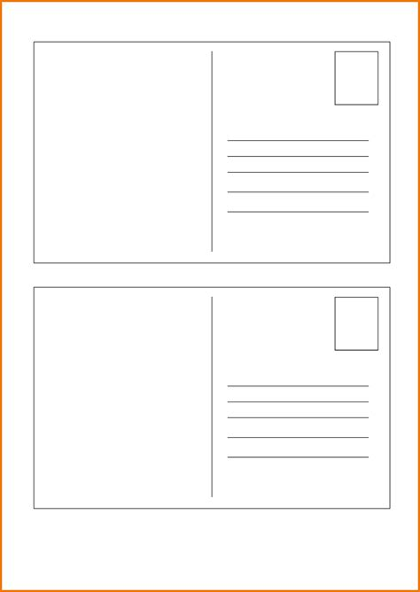 post card template 9 x 6 free printable postcard templates