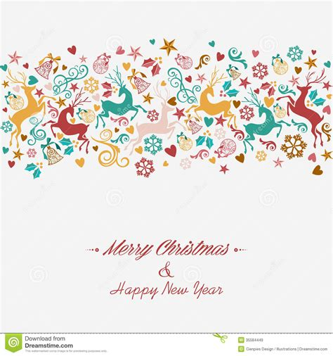 merry and happy new year in merry and happy new year greeting card stock