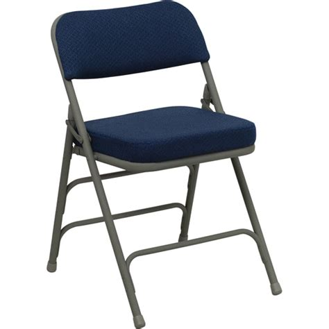 hercules hinged fabric padded folding chair 4 pack navy