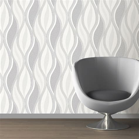 Wallpaper Direct Grey | direct wallpapers wave glitter wallpaper grey