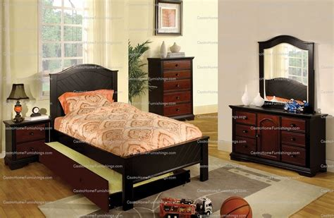 twin bed with pull out bed twin size bed pull out trundle mackenzie cherry and black