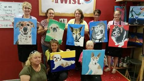 paint with a twist indianapolis paint your pet picture of painting with a twist