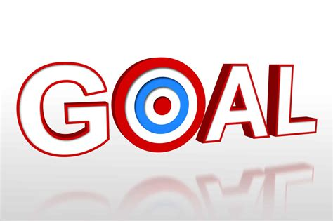 The Word the word goal with target on white background