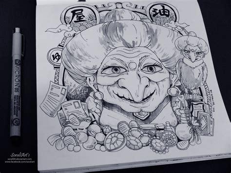 doodle 9 in 1 ghibli doodle yubaba doodle 2 by sorali04 on deviantart