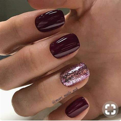 burgundy nail color best 25 maroon nails burgundy ideas on