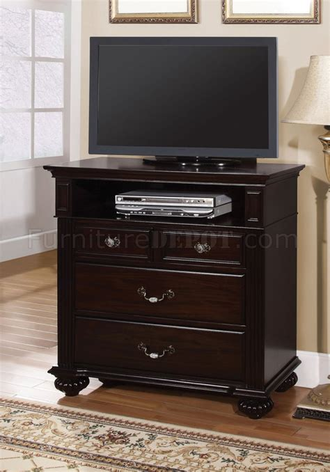 cm syracuse tv console  dark walnut