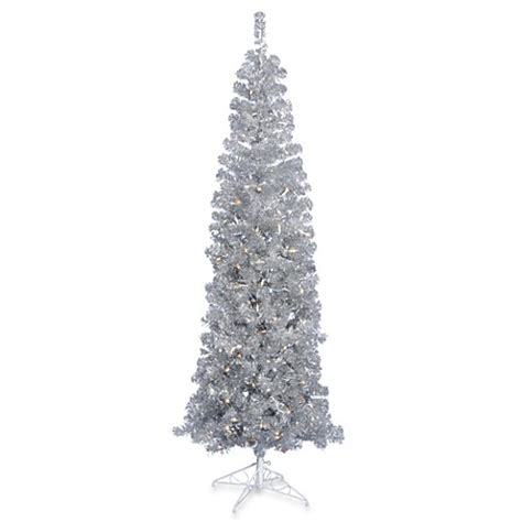 christmas trees gt vickerman 7 foot 6 inch silver pencil