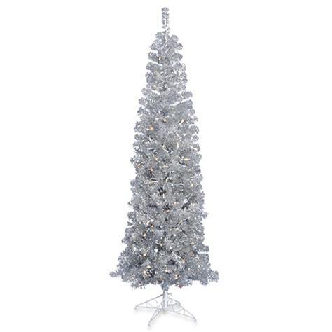 christmas trees gt vickerman 7 foot 6 inch silver pencil