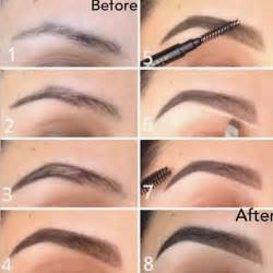 how to color in eyebrows brow routine using brow wiz in brow powder in