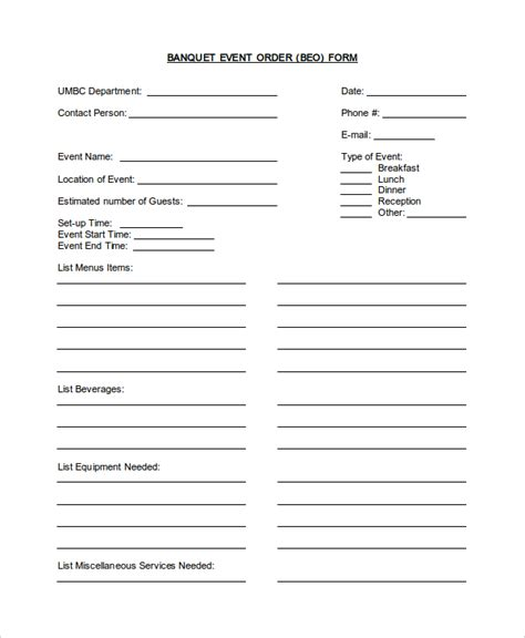 banquet order form template banquet event order form template pictures to pin on