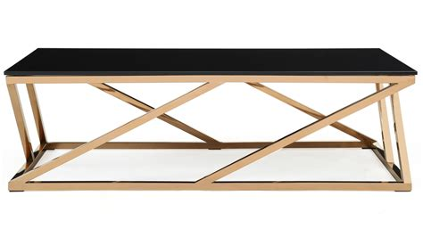 black and gold table modern rose gold and black glass geo coffee table zuri