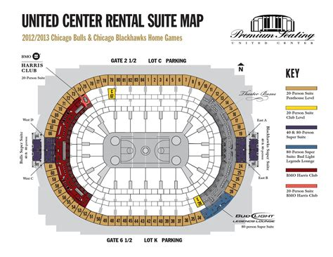 united center chicago map 1213 rental suites map by united center issuu