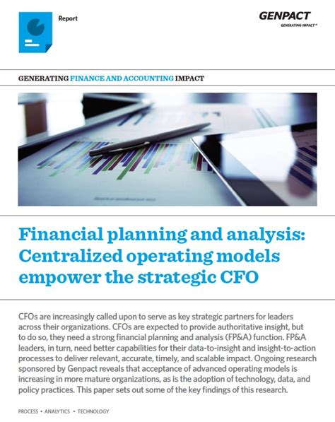 Financial Planning Analysis Mba by Financial Planning And Analysis Centralized Operating
