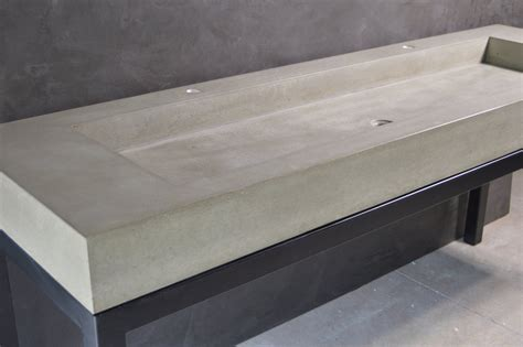 Diy Concrete Trough Sink by Concrete Trough Sink With Base
