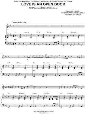 Open Door Note by Quot Is An Open Door Piano Accompaniment Quot From Frozen