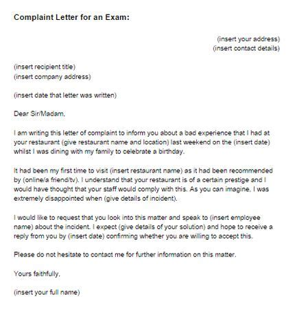 Complaint Letter Quiz complaint letter writing sles and writing
