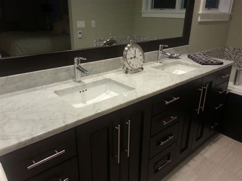 Carrara white kitchen amp master bath contemporary
