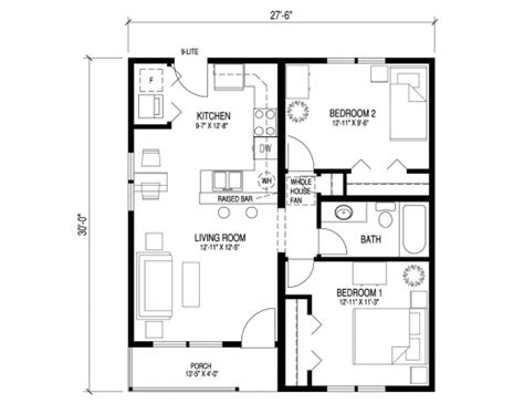 2 bedroom bungalow house floor plans simple floor plan of a bungalow house house floor plans