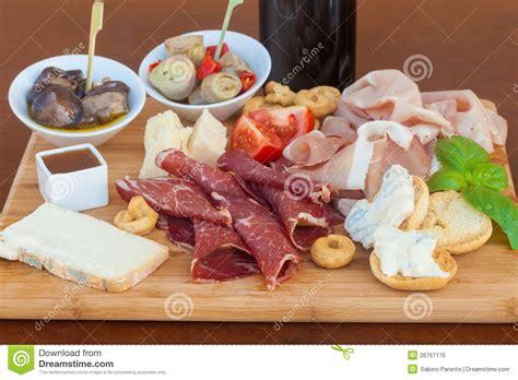 cooking board italian food on chopping board royalty free stock image