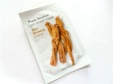 body comfort pure source missha pure source cell sheet mask red ginseng review