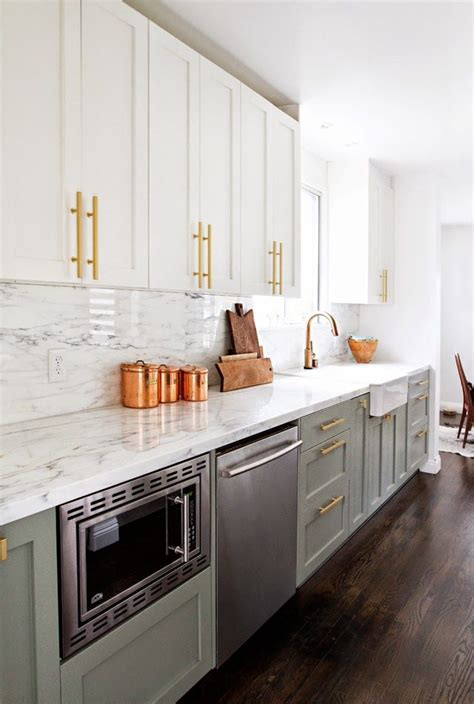 white kitchen with copper and wood accessories color scheme the 10 commandments of a clutter free kitchen copper