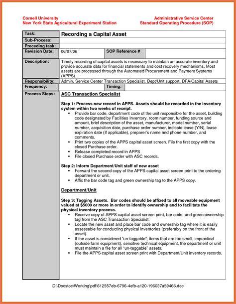 standard biography format standard operating procedure exle bio exle