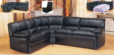 Black Leather Reclining Sectional Sofa Black Leather Contemporary Sectional Sofa With Recliner
