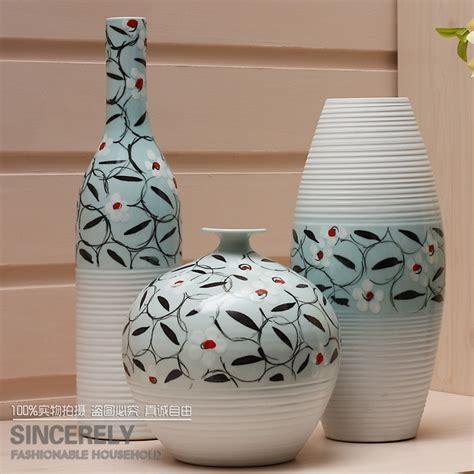 modern home three major sets of vase painting ceramics