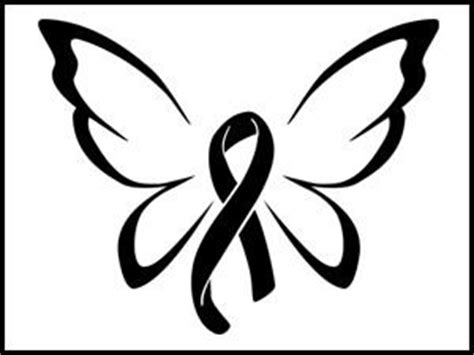 Textured Paneling awareness ribbon butterfly decal custom decalz