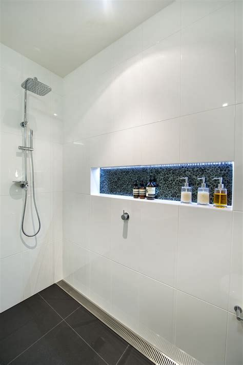 bathroom strip light led strip in shower bathroom lighting inspiration
