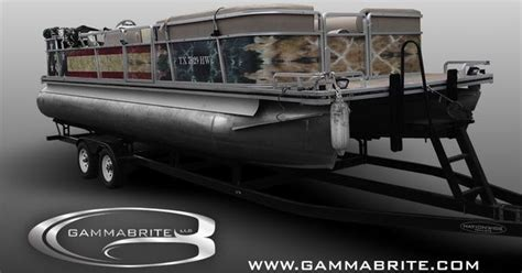 pontoon boat wrap  gammabrite wwwgammabritecom