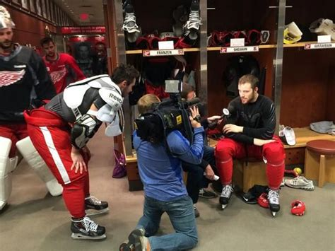 Locker Room Hijinks by 1000 Images About Hockey Detroit Wing On