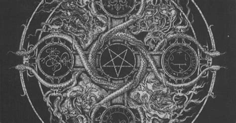 doodle exhausted pentagram occult ancient and black