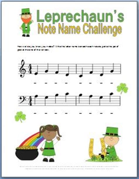 s day song worksheets leprechaun s challenge st patricks day note name